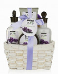 Spa Gift Basket with Lavender