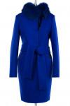 Пальто женское утепленное (пояс) Валяная шерсть Василек