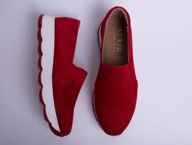 Слипоны №370 красные