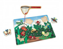 Melissa & Doug Deluxe 10-Piece Magnetic Bug Catching Game
