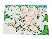 0644 FISSMAN Многоразовый коврик для рисования водой БАБОЧКА