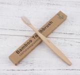 Зубная щетка бамбуковая, белая щетина