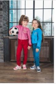 Комплект для девочки (толстовка, брюки)  - 2 цвета