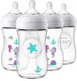 Philips Avent Natural Baby Bottle, Purple, 9oz 4pk