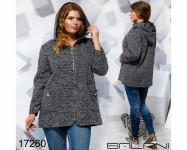 Пальто с капюшоном - 17260