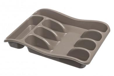 Лоток для столовых приборов 33*26*5 см (капучино) (модель 06