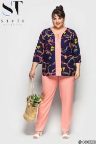 Костюм 49000 (блузка+брюки)