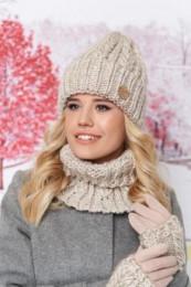 Комплект «Агнес»  шапка, хомут и перчатки