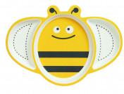 Детская бамбуковая посуда тарелка Пчелка для 2 блюда