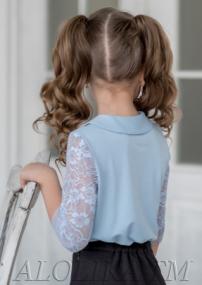 Ф*анни блузка трикотажная голубая