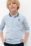 Сорочка-поло верхняя детская для мальчиков Gropius голубой