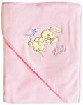 Плед-полотенце с уголком-капюшоном EKO, розовое