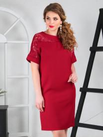 Платье 007/1, бордовый