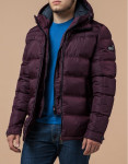 Современная куртка с карманами темно-бордовая модель 12055