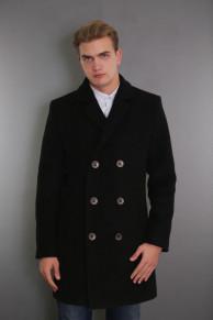 Пальто мужское демисезонное 1684-000   (черный )