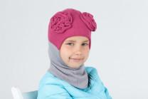 Шапка-шлем с двумя цветами
