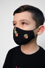 """Детская декоративная маска принт """"кактусы"""""""