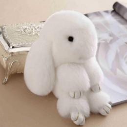 Брелок Зайка Меховой белый (18-20 см)