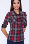 58276 Рубашка (Emansipe)Серый/красный