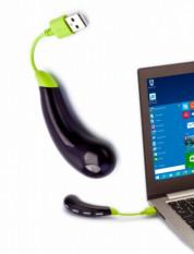 Разветвитель USB «БАКЛАЖАН», зеленый