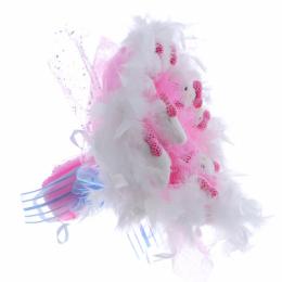 Букет из котят пух 9шт., розовый
