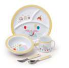 Kids Preferred 5-Piece Baby Dumbo Dish Set
