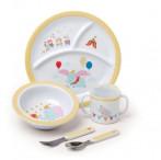 Kids Preferred 5-Piece Baby Dumbo Dish Set