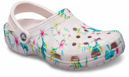 Classic Season Graphic ClogBarely Pink/Floral