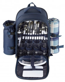 Picnic Basket Backpack Set for 4 with Insulated Cooler