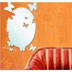 Акриловое зеркало Королевство бабочек