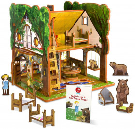 Goldilocks and the Three Bears Toy House and Storybook Play