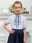 Школьная блузка для девочки с коротким рукавом (рост 122 см)