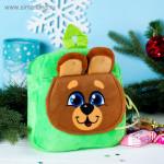 """Сладкий подарок детский рюкзак с конфетами """"Мишка"""""""