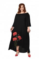 507449 Состав 100% вискоза Цвет Черный Черное платье свобод