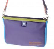 Кожаная сумка DuDu Bags серии Togean | фиолетовый пэчворк