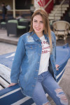 Женские джинсовые куртки Мом 1055-325