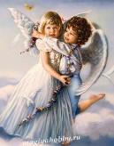 Алмазная живопись - мозаика.Ангелочки