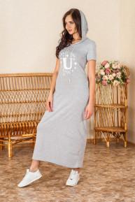 Платье женское Кулирка Пати (капюшон)