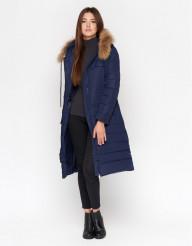 Синяя фирменная куртка женская модель 9615