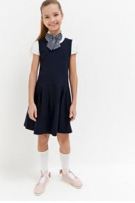 #32431 Платье темно-голубой