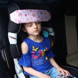 Фиксатор для головы ребенка в автокресле Совы на розовом