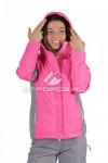 Куртка женская осень весна розового цвета 1713R-1