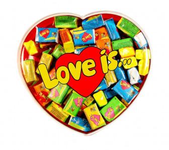 ЖВАЧКА LOVE IS... В КОРОБОЧКЕ СЕРДЦЕ .