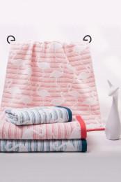 """Полотенце махровое с жаккардовым рисунком """"Фламинго (65*135)"""