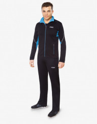Черно-голубой модный спортивный костюм F50 модель 237