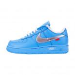 Кроссовки Nike Air Force 1 '07 Virgil x MoMa Blue арт 5019-1
