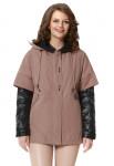 """Куртка """"Деми"""" какао, состоит из:утепленной куртки и ветровки"""