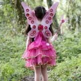 Girls Pink 3 Piece 'Fairy Set' Dress-Up Costume