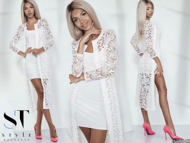 Комплект двойка 35643(кардиган+платье)