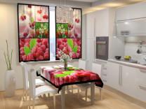 Фотошторы для кухни Ягодный коктейль Габардин